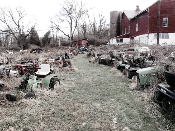 Lawn Mower Graveyard Sunflowereyez