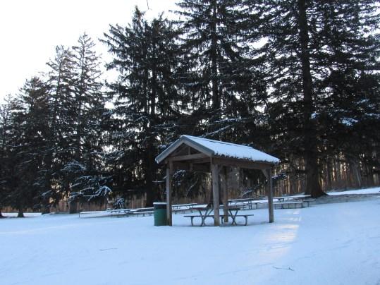 picnic in snow